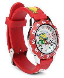 Fantasy World Wrist Watch Froggy Print - Red