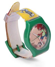 Fantasy World Analog Wrist Watch Chacha Chaudhary Print - Green
