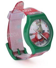 Fantasy World Wrist Watch Froggy Print - Green Red