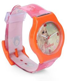 Fantasy World Wrist Watch Babes Print - Orange Pink