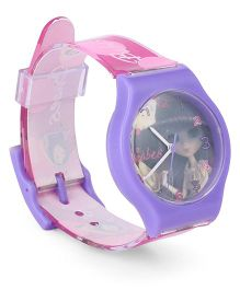Fantasy World Wrist Watch Babes Print - Purple Pink