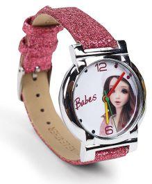 Fantasy World Wrist Watch Babes Print - Pink
