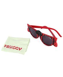 Froggy Sunglasses Cat Nose Design - Red