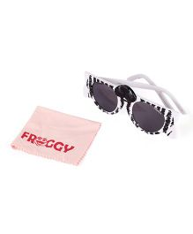 Froggy Sunglasses Cat Nose Design - White