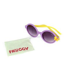 Froggy Sunglasses Butterfly On Stick With Selvet - Purple