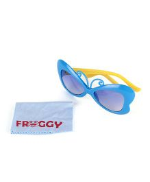 Froggy Sunglasses Butterfly Design - Blue