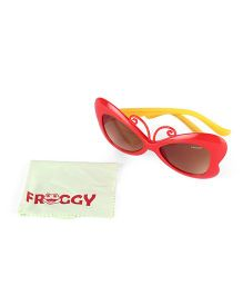 Froggy Sunglasses Butterfly Design - Red