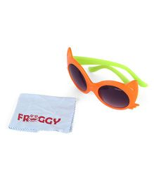 Froggy Sunglasses Cats Eye Design - Orange