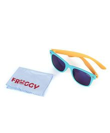 Froggy Silver Dot Sunglasses With Selvet - Blue