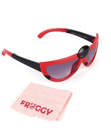 Froggy Sunglasses Bug Design With Selvet - Red
