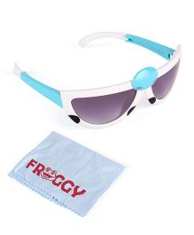 Froggy Sunglasses Bug Design With Selvet - White