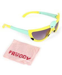 Froggy Sunglasses Bug Design With Selvet - Yellow