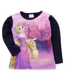 Eteenz Full Sleeves Top Rapunzel Print - Navy Purple