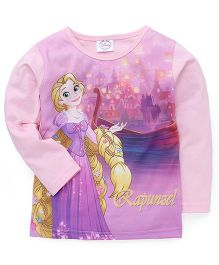 Eteenz Full Sleeves Top Rapunzel Print - Pink Purple