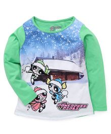 Eteenz Full Sleeves Top Power Puff Girls Print - Green