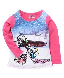 Eteenz Full Sleeves Top Power Puff Girls Print - Pink