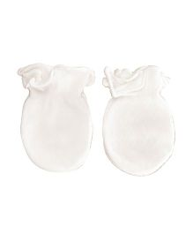 Playette Bamboo Mittens Pack Of 2 - White