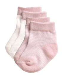 Playette Socks Stripes Print Pack Of 2 - Pink White