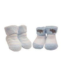Playette Turn Down Cuff Socks Pack Of 2 - Blue