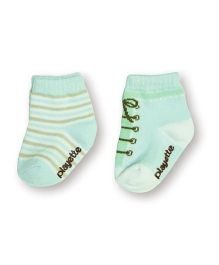 Playette Socks Lace Up Design - Green