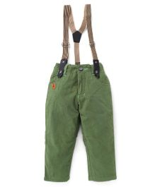Spark Full Length Pants With Suspenders - Green
