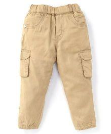 Spark Full Length Plain Pants - Beige