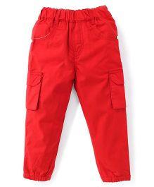 Spark Full Length Plain Pants - Red
