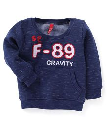 Spark Full Sleeves Gravity Print Sweatshirt - Navy