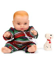 Speedage Cute Baby Doll With Pet Dog - Green Multicolor