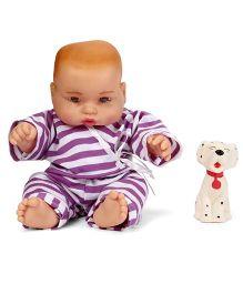 Speedage Cute Baby Doll With Pet Dog - Purple White