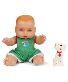 Speedage Cute Baby Doll With Pet Dog - Green