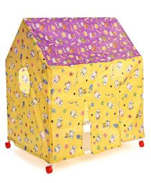 Kids Zone Play Tent House Multi Print - Yellow
