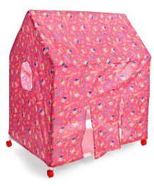 Kids Zone Play Tent House Multi Print - Pink