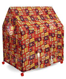 Kids Zone Play Tent House Multi Print - Red