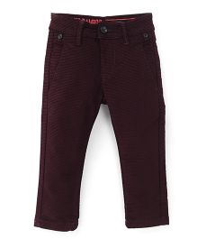 Bambini Kids Stylish & Comfortable Pant - Maroon