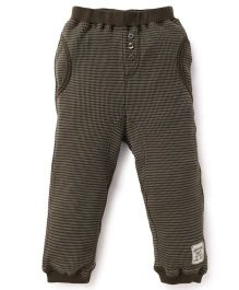 Pumpkin Patch Striped Joggers - Green
