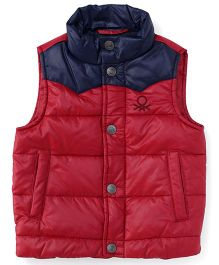 UCB Sleeveless Jacket - Red Navy
