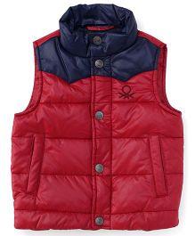 UCB Sleeveless Jacket - Red Navy