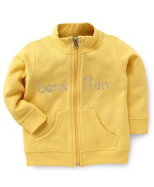 UCB Full Sleeves Sweatjacket Studded Detailing - Yellow