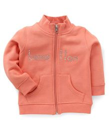 UCB Full Sleeves Sweatjacket Studded Detailing - Peach