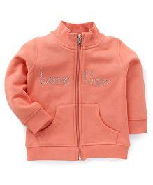 UCB Full Sleeves Sweatjacket Studded Detailing - Peach