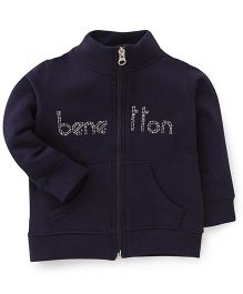 UCB Full Sleeves Sweatjacket Studded Detailing - Navy