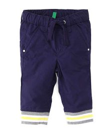 UCB Full Length Trouser With Drawstring - Navy Blue