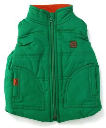 Play by Little Kangaroos Sleeveless Jacket Logo Patch - Green