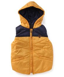 Little Kangaroos Sleeveless Hooded Jacket - Golden Yellow