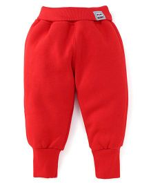 Play by Little Kangaroos Full Length Thermal Bottoms - Red