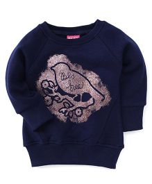 Play by Little Kangaroos Full Sleeves Sweatshirt Bird Print - Navy