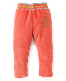 Play by Little Kangaroos Thermal Bottoms Bird Print - Coral