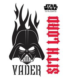 Orka Vader Logo Digital Printed Wall Decal - Red Black