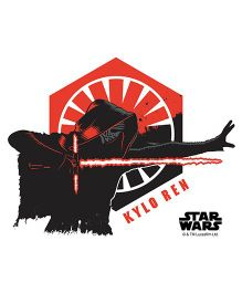Orka Kylo Ren Digital Printed Wall Decal - Black Red